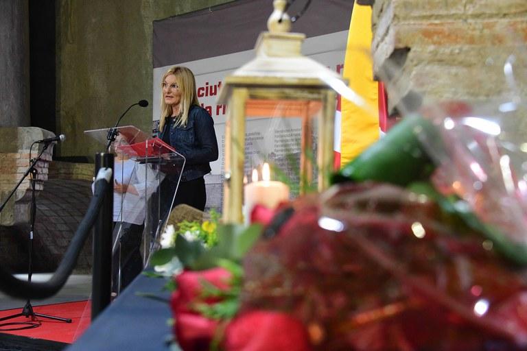 L'alcaldessa, durant el seu discurs (foto: Ajuntament - Localpres)