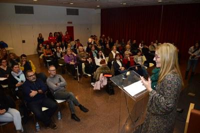 L'alcaldessa ha presentat la segona Jornada Europea de la Mediació (foto: Localpres).