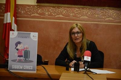 L'alcaldessa, Ana María Martínez, ha presentat la campanya aquest dilluns (Foto: Localpres)Peu de foto.