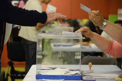 Rubí ha celebrat una jornada electoral marcada per l'absència d'incidències destacables (foto: Localpres).