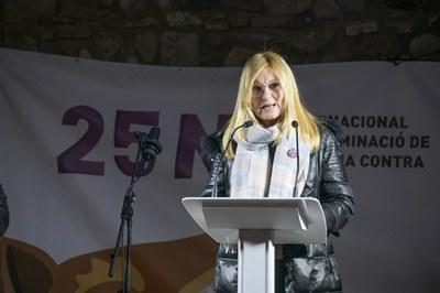 L'alcaldessa ha obert l'acte a la plaça Doctor Guardiet (foto: Ajuntament de Rubí - Localpres).