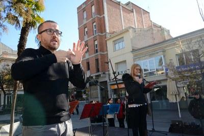 En el marc de la jornada, l'alcaldessa ha defensat la necessitat de seguir avançant cap a una ciutat més inclusiva (foto: Localpres).