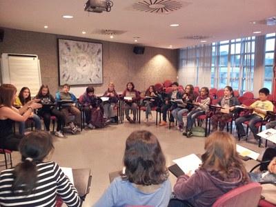 Els membres del Consell dels Infants i els Adolescents de Rubí participen activament en diferents temes de ciutat.
