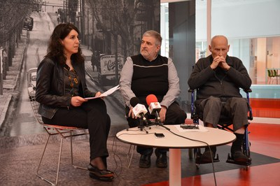La regidora Neus Muñoz, Manel Miras i Ignasi Marroyo
