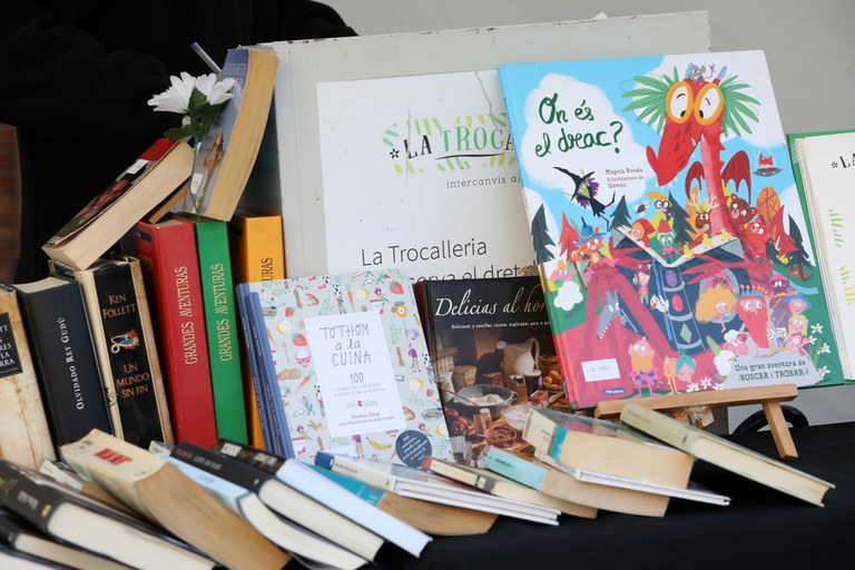 Aquest any s'ha afegit la Trocalleria de llibres, un punt d'intercanvi (foto: Ajuntament – Lali Puig)