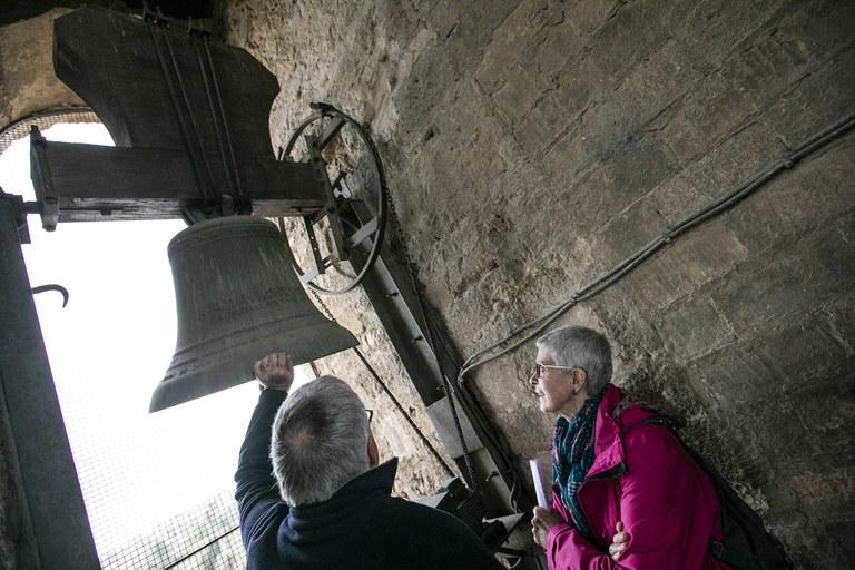 Com en altres edicions, s'ha pogut tornar a visitar el rellotge del campanar de l'església de Sant Pere (foto: Ajuntament – Lali Puig)