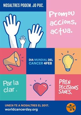 Cartell del Dia Mundial contra el Càncer (font: World Cancer Day).