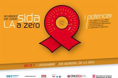 Cartell del Dia mundial de la sida del Departament del Salut.
