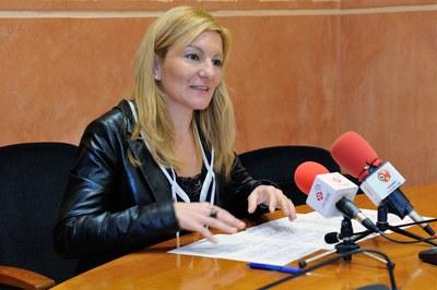 L'alcaldessa, Ana María Martínez (foto: Localpres).