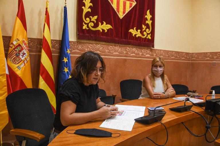 Un moment de la roda de  premsa (foto: Ajuntament de Rubí - Localpres)