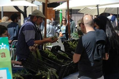 Durant la fira, diversos productors agrícoles locals han mostrat els seus productes a la ciutadania (foto: Localpres).