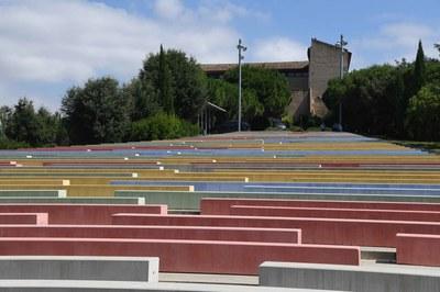 L'acte havia de tenir lloc a l'amfiteatre del Castell (Foto: Ajuntament/Localpres).