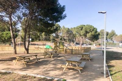 La nova àrea d'esbarjo social està ubicada a l'av. Can Tapis (foto: Ajuntament de Rubí – Localpres).