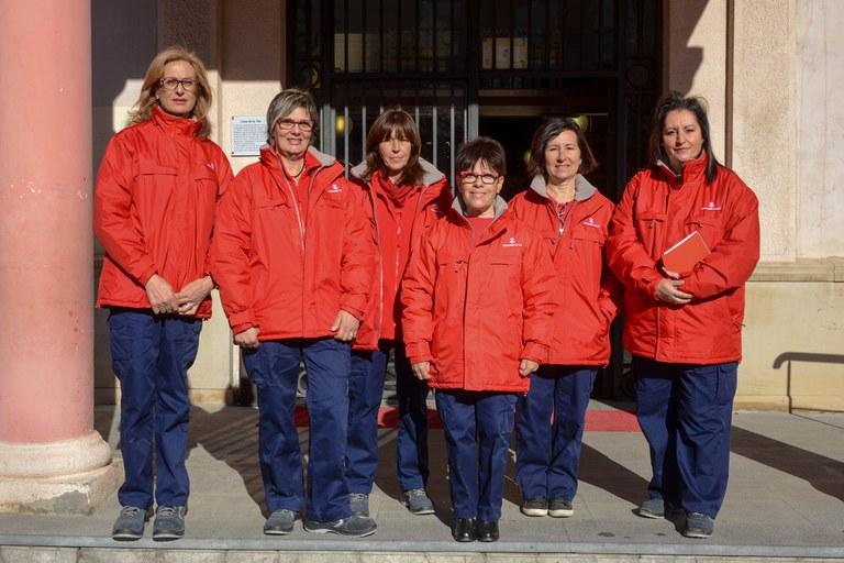 Les agents pel civisme van uniformades degudament perquè la ciutadania les reconegui (foto: Localpres)