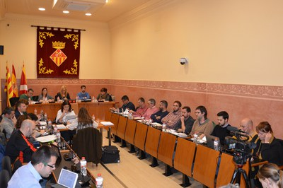 El Ple ha tingut lloc a la sala Enric Vergés del consistori (foto: Ajuntament).