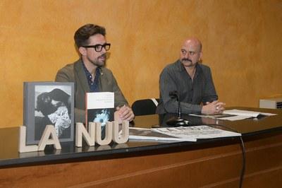 El regidor de Promoció i Dinamització Cultural, Moisés Rodríguez, amb el director del festival, Carles Mercader (foto: Ajuntament de Rubí – Localpres).