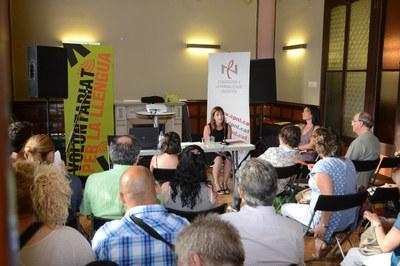 Marta Garcia ha felicitat els voluntaris per la llengua pel seu esforç i generositat  (foto: Localpres).