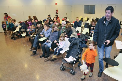 L'acte s'ha fet a l'auditori de la Biblioteca Municipal Mestre Martí Tauler (foto: Localpres)