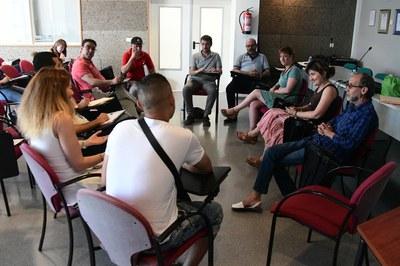 La regidora de l'Àrea de Serveis a les Persones ha rebut la delegació marroquina aquest dijous (foto: Localpres).