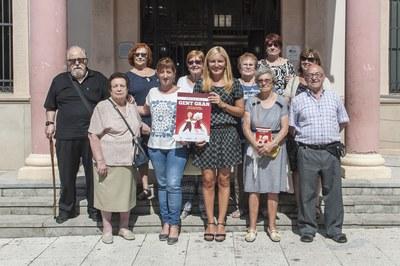 El Consell de la Gent Gran també ha participat a la presentació (Foto: Cesar Font).