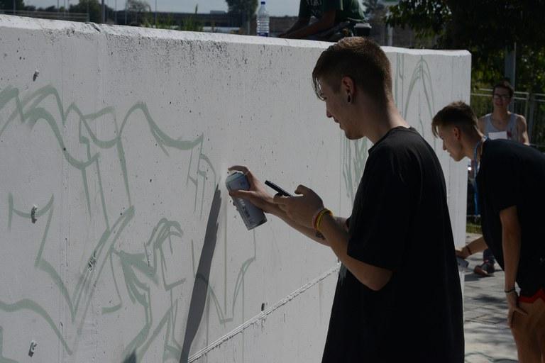 Pressing Caps ha pintat un grafit (foto: Localpres)