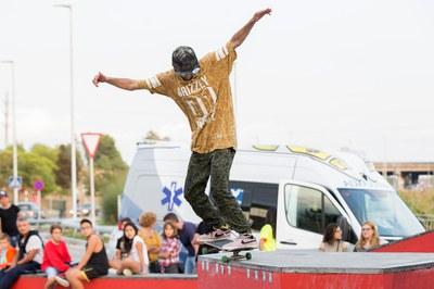 Un dels patinadors que han competit al Rubí Skate Open (foto: Localpres).