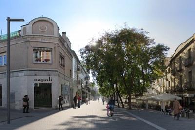 Imatge virtual del tram del carrer Maximí Fornés entre els carrers Unió i Montserrat.
