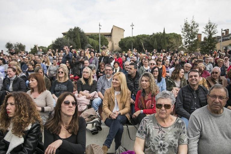 L'alcaldessa no s'ha volgut perdre la Cantata (foto: Ajuntament ─ Lali Puig)