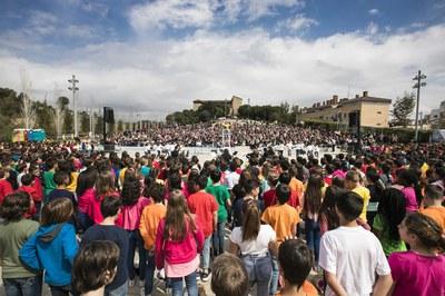 Prop de 900 alumnes han participat al recital (foto: Ajuntament ─ Lali Puig)