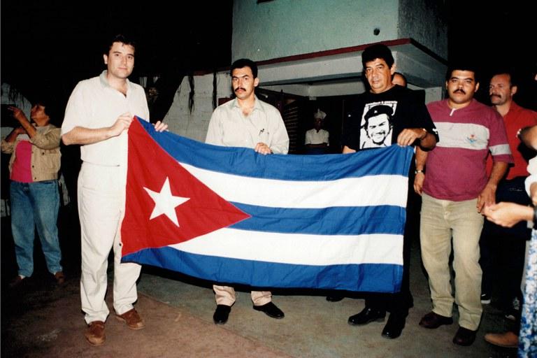 Visita institucional de l'alcalde de Rubí, Eduard Pallejà Sedó, a Boyeros l'any 1997 (foto: Ajuntament de Rubí - Jordi Garcia)
