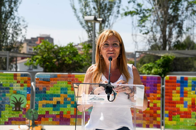 The mayoress, opening the activity (photo: Rubí City Council - Localpres)