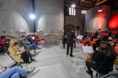 The Chamber Orchestra of the Pere Burés Municipal Music School opened COLOR Week  (photo: Rubí City Council - Localpres).