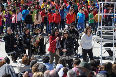 La alcaldesa ha asistido a la Cantata (foto: Localpres)