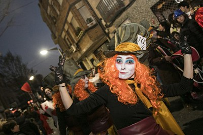El Concurso de comparsas se resuelve en el marco de la rúa de Carnaval (foto: Ayuntamiento de Rubí - Lali Puig).