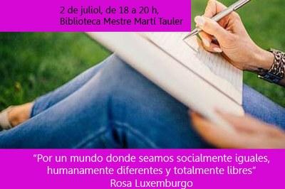 El taller tendrá lugar el 2 de julio (foto: Ayuntamiento de Rubí).