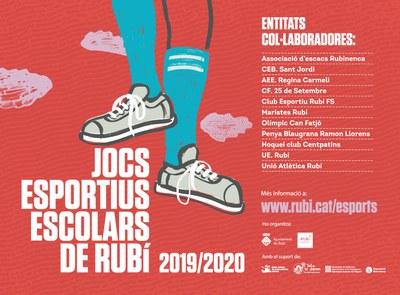 Los Juegos Deportivos Escolares cuentan con la colaboración de varias entidades deportivas.