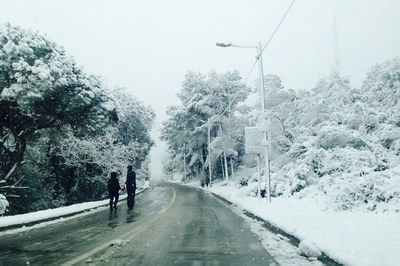 Nieve en Sant Muç.
