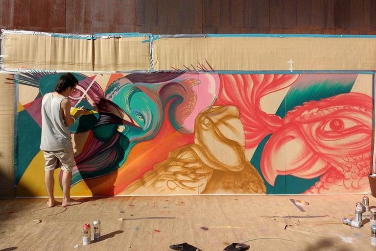El grafitero Navy Muluk (foto: RubíJove)