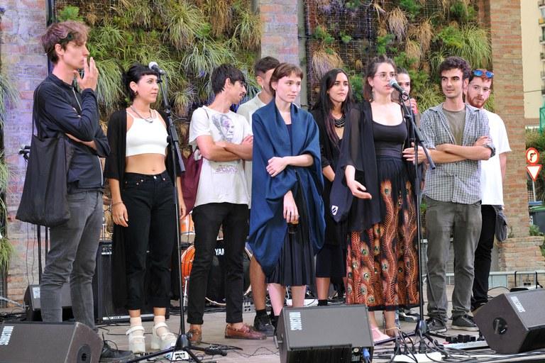 Los jóvenes creadores organizadores del festival (foto: Localpres)