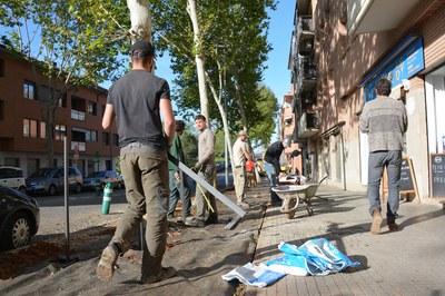 Los chicos están realizando estas prácticas en el marco del proyecto Leonardo da Vinci (foto: Ayuntamiento).