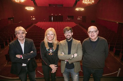 De izquierda a derecha: Pep Capmany, Ana María Martínez, Moisés Rodríguez y Angel Miguel (foto: Ayuntamiento – Lali Puig).