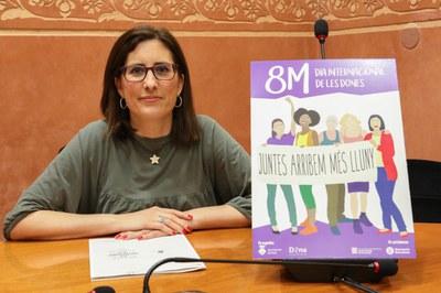 Maria Mas en la sala de plenos (foto: Ayuntamiento de Rubí – Lali Álvarez).