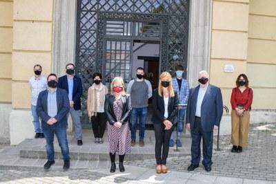 La visita al Espona ha tenido lugar este viernes (Foto: Ayuntamiento / Localpres).