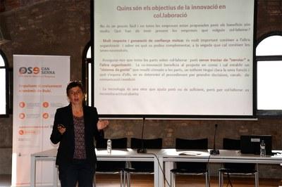 Imma Pérez ha explicado los modelos de innovación colaborativa