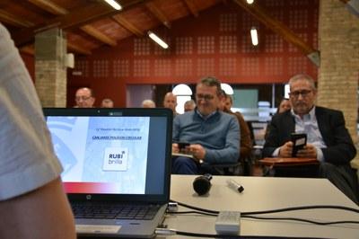 La presentación de la prueba piloto del primer polígono circular ha tenido lugar a Can Serra (foto: Ayuntamiento de Rubí).