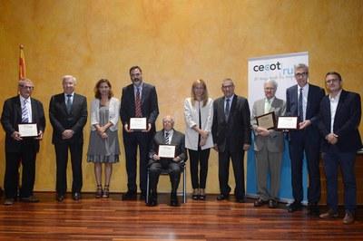 Durante el acto en el Castell, se reconoció la trayectoria de cuatro empresarios rubinencs (foto: Localpres).