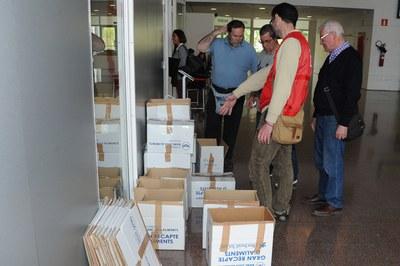 Las entidades solidarias han recogido alimentos coincidiendo con el dictado (foto: Localpres)