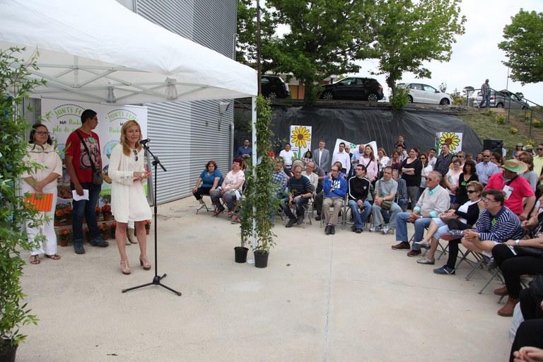 La alcaldesa, durante su intervención (foto: Localpres)