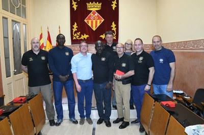 La recepción institucional ha tenido lugar este martes por la tarde (foto: Ayuntamiento - Localpres).