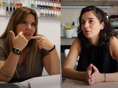 M. José Martínez Lopez y Lídia Gil Belmonte en un momento del documental (foto. Ràdio Rubí).